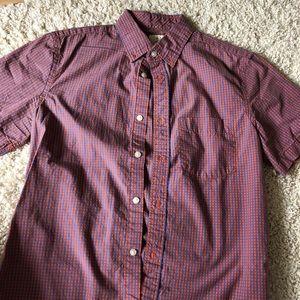 Men's Gap Short Sleeve Orange / Blue Shirt Size S